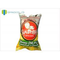 Buy cheap 140 Micron Food Grade Printed Laminated Pouches Back Sealing Inflatable Chips product