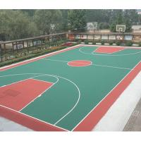 China Thick Waterproof Rubber Flooring , Volleyball Court Rubber Flooring For Basement on sale