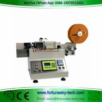 Buy cheap Automatic cutting machine for trademark washed mark cutting machine weaving label cutting machine printed label product