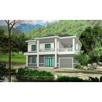 China Prefabricated Rural Villa With Light Steel Frame , Quick Assemble Prefab Modular Housing on sale