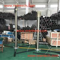 Buy cheap lockable pneumatic telescopic mast/ antenna mast/ telescoping masts/ 3m to 30m height/ 400kg payloads product