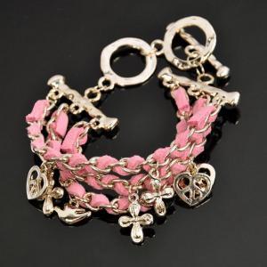 Wholesale LK Korea style of love 8 buckle bracelet (pink)