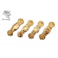 Gold Funeral Coffin HardwareBracket Matching With Screw , Casket Hardware Suppliers