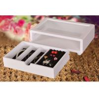 Buy cheap Cute White Wooden Jewelry Organizer Box , Customized Jewelry Gift Boxes product