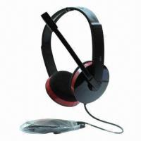 Buy cheap 20Hz-20kHz Best Price Headphones with 25mW Power/3.5mm Plug/40mm Driver/6.5mm Microphone/2m Cable product