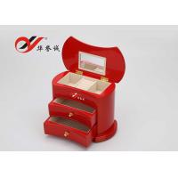 Buy cheap Simple / Compact Small Wooden Jewellery Box Organizer Easy Clean With 2 Drawers product