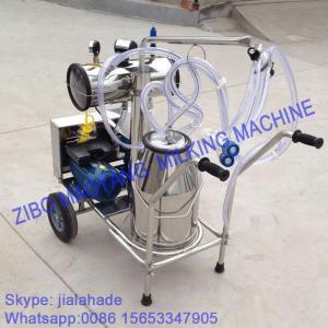 China Vacuum Pump Typed Single Bucket Mobile Milking Machine on sale