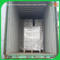 Buy cheap 2.0mm 70*100cm double grey paper board for book cover laminated board product