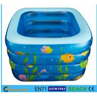 China Square Inflatable Swimming Pool Sea Animal Printing Easy Setting Up For Kids on sale