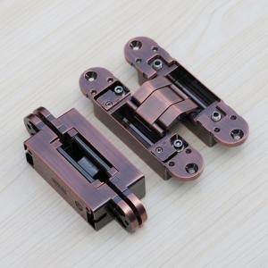 Buy cheap antique copper 3way adjustable concealed hinges 180 degree hidden door hinges fold door hinge product