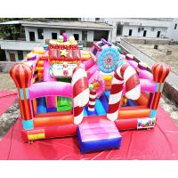 China Sugar Candy House 6x6x3.2M Commercial Jumping Castles on sale