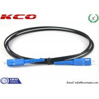 Buy cheap SC / UPC  - SC / UPC Single Mode Simplex FTTH Fiber Optic Patch Cord Black Cover product