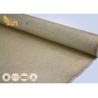 Buy cheap Yellow Flame / Spark Resistant Fire Fiberglass Welding Blanket Roll Fabric Vermiculite Coated product