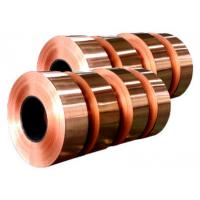 Buy cheap Electronic Copper Strips , Long Length Copper Tape For Power Cable product