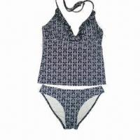 Buy cheap Ladies' Underwear Set with Frill on Neck Line and Adjustable Ties, Fashionable product