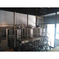 30 BBL Beer Brewing Equipment , Three Vessles Steam Heated Brewhouse