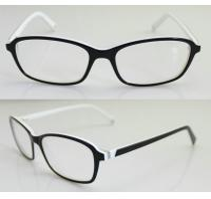 Buy cheap Black & White Fashion Eyeglass Frames, Custom Acetate Eyewear Frames For Men product