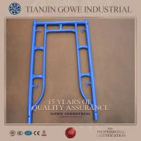 Buy cheap Blue painted frame scaffolding system 1200 * 1524mm , ladder frame scaffolding from Wholesalers