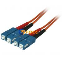 Buy cheap Custom OM2 Optical Fiber Cables SC SC Multimode Fiber Patch Cable product