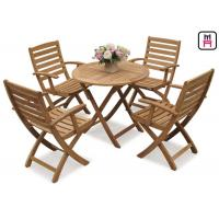 Buy cheap Rectangle / Round / Square Folding Table And Chairs Solid Wood Garden Furniture Sets  product