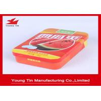 China Custom Small Candy Gift Tins , Empty Sweets Candy Packaging Metal Tin Box on sale