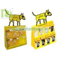 Buy cheap countertop pets display stand ,cardboard counter display unit with plastic hooks for blister products product