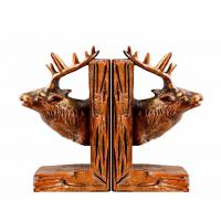 Buy cheap Deer Reindeer Stag Home Decor Bookends Red Brown For Library Study Room product