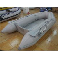 Buy cheap V Shaped PVC Inflatable Boat With 4 Individual Air Chambers / Aluminum Floor product