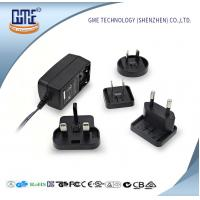 Buy cheap Interchangeable Plug AC DC  Wall Adapter 24w Max Output With LED Light product