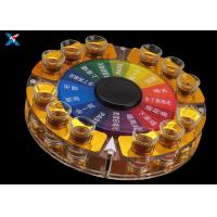 Buy cheap Chinese Style Acrylic Display Rack Game Rotating Acrylic Swallow Wine Bullet Cup Holder Rack Tray For Bar product