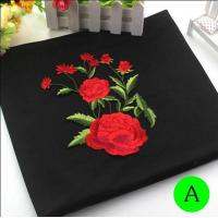 Buy cheap Polyester Embroidered Iron On Patches Appliques With Boutique Rose Flower 19*14 cm product