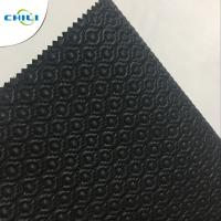 Buy cheap Artificial Black Leather Fabric , Recycled Leather Fabric Vinyl Secondary Fabric product