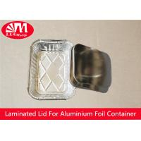 Buy cheap Rectangle Foil Tray Lids Aluminium Coated Laminated Paper Board Material product