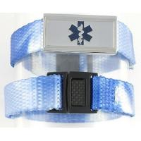 Personalized Black Leather and Stainless Medical ID Alert Bracelet