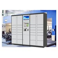 China Self Service Custom Web Online Delivered Parcel Locker With Advertising LCD on sale