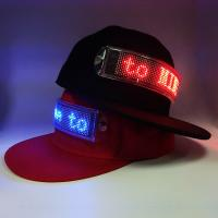 Buy cheap Flashing scrolling message LED cap which canbe changed the message by client's phone product