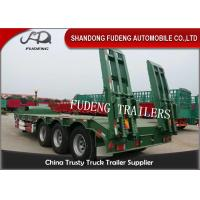Buy cheap 3 Axle 60 Ton Gooseneck Low Bed Semi Trailer With Ladder For Construction Machinery Transportation product