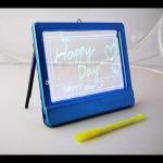 LED Fluorescent Glow Message Board Pad+Pen 4clr YM0104