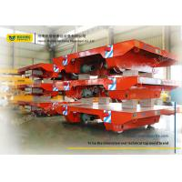 Buy cheap Assembly Line Steel Motorized Transfer Trolley / Electric Transfer Cart Carriage product