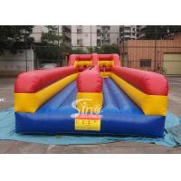 Buy cheap 10m long kids N adults inflatable bungee run for indoor or outdoor 2 person interactives product