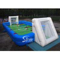 Buy cheap Commercial human inflatable foosball arena court for football activities product