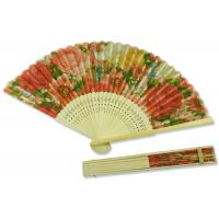 China 22cm Rose Pattern Hand Held Folding Fans Colorful Fashionable European Style on sale