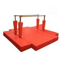 Buy cheap Waterproof Gymnastics Equipment Bars Red Fitness Equipment Steel Material product