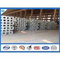 Buy cheap 7.6M 3mm Thick Conical Hot Dip Galvanized Street Light Steel Poles product
