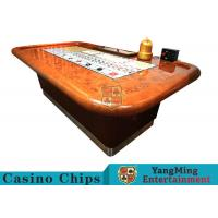 Standard Casino Sic Bo Luxury Casino Craps Poker Table / Electronic Poker Table