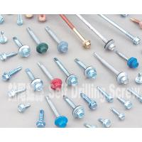 China Colored 10 Mm Hex Flange Head Self Drilling Screws , Metal Roofing Screws With Washers on sale