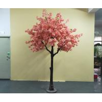 Buy cheap Durable Artificial Indoor Pink Cherry Blossom Tree For Airport , Restaurant product