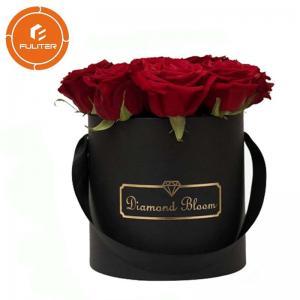 China Luxury high-end black circular paper flower box custom packaging box OEM service on sale
