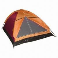 Buy cheap Outdoor Family Hiking/Camping Tent for 1 to 2 Persons, Made of 170T polyester and 400mm PA Coating product