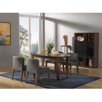 Buy cheap 2016 New Nordic Design Dining Room Furniture sets by Walnut wood table with Fabric upholstered Chair with Buffet cabinet product